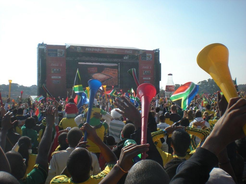 Sydafrika - fodbold, storskærm - rejser