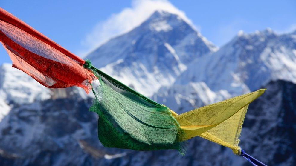 Bedeflag i Himalaya, Nepal, Tibet, Indien, rejser