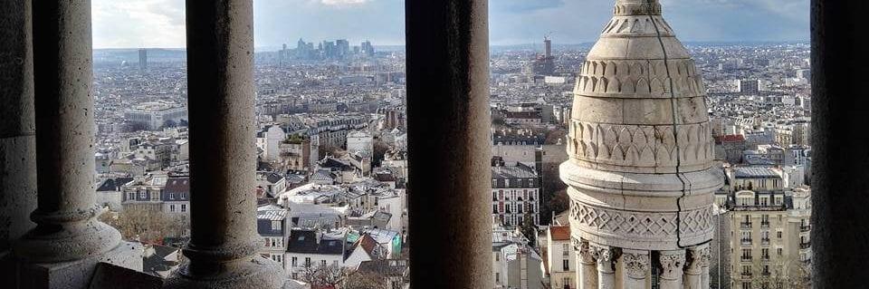 Udsigt over Paris fra Sacre Coeur, Montmartre, Paris, Frankrig, rejser