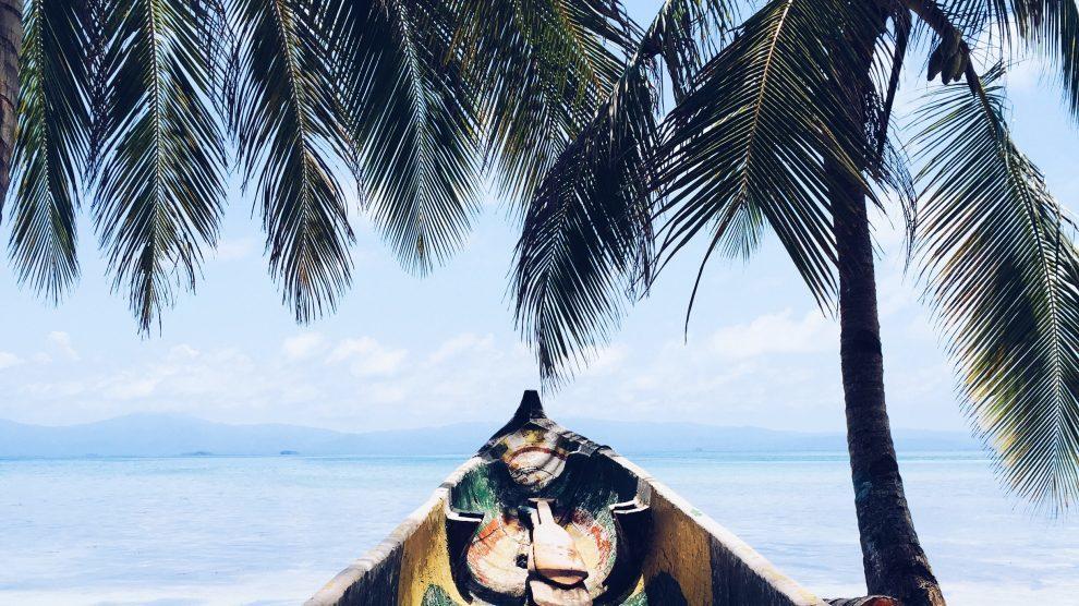 Caribien - båd og palmer - rejser