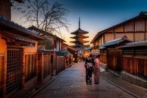 Japan - gade, tempel - rejser