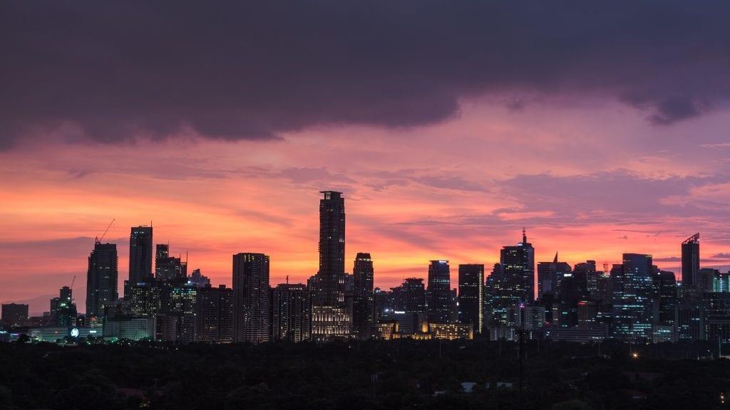 Filippinerne - Manila, skyline, nat - rejser