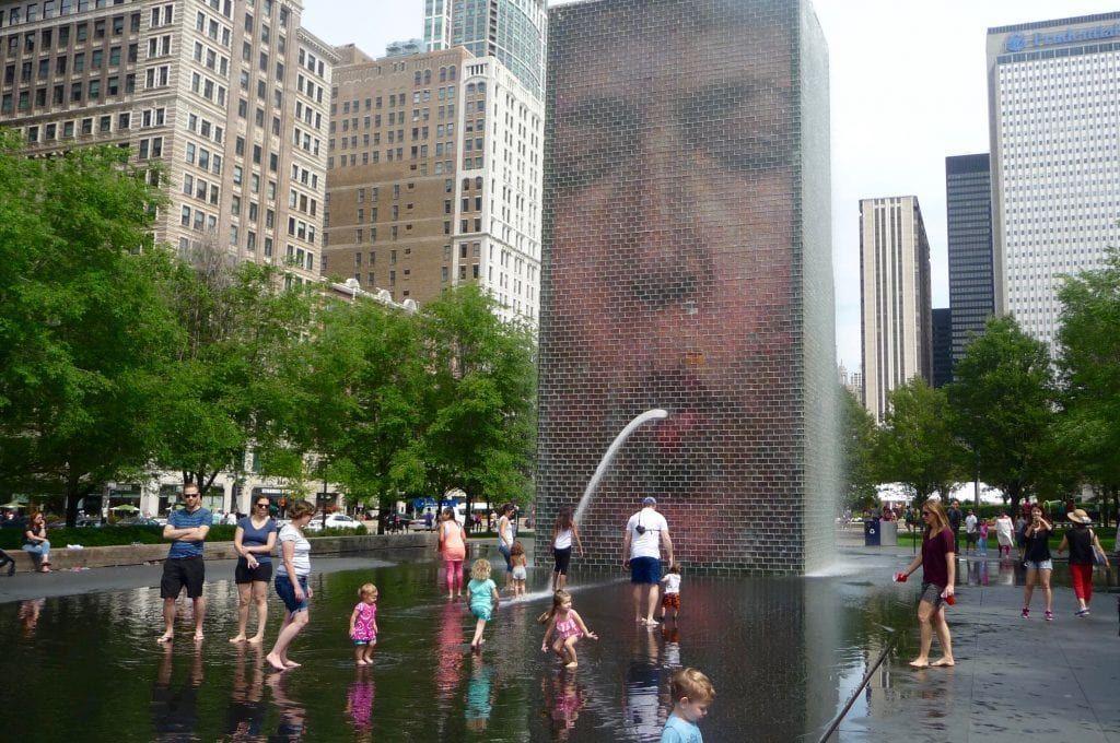 USA - Chicago, Crown Fountain - rejser