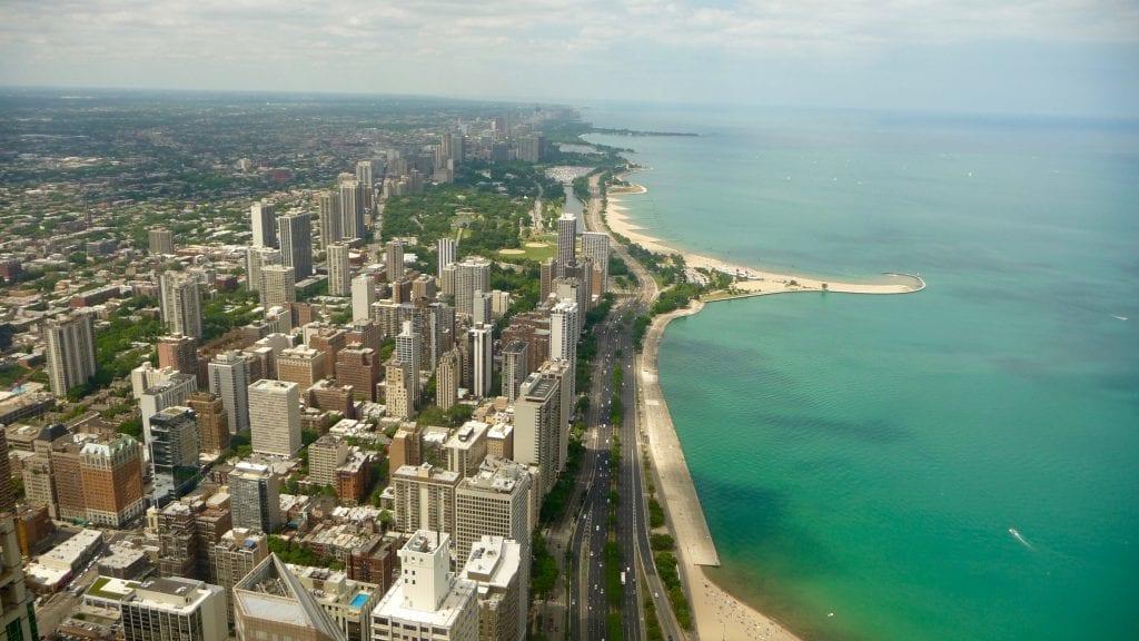 USA - Chicago, udsigt fra Hancock bygningen - rejser