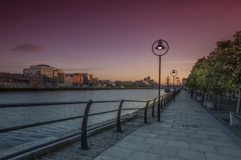 Irland - Dublin, Liffey - rejser