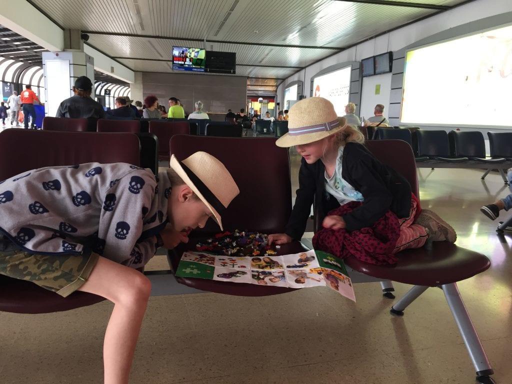 lufthavn - børn - rejser