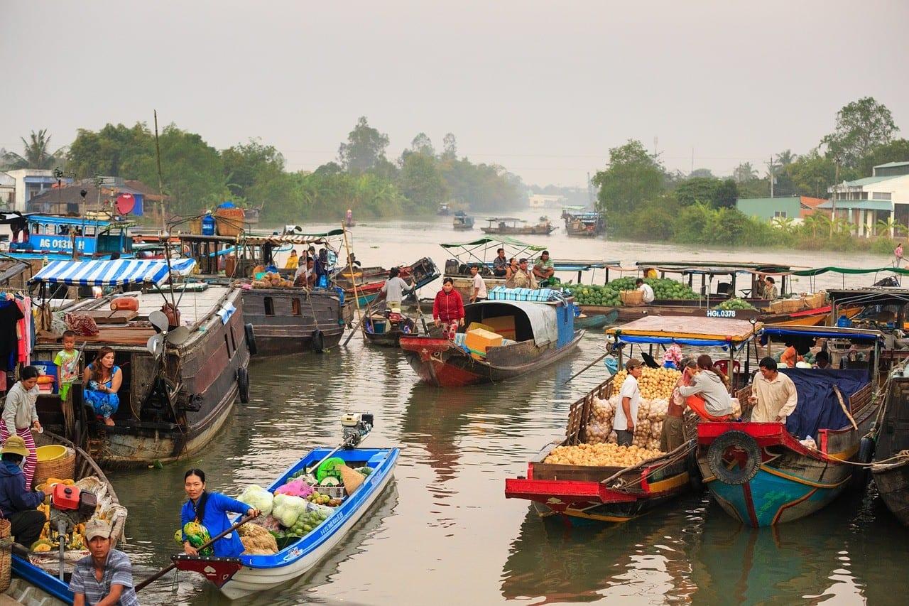 Vietnam - Mekong, flydende marked - rejser