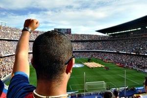 Spanien - Barcelona, Camp Nou, fan - rejser