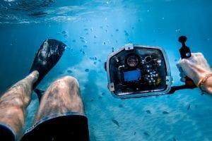 Snorkling dykning