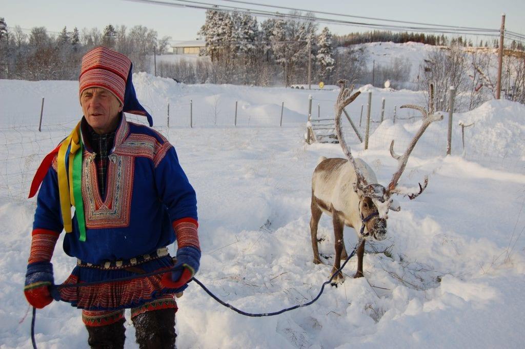 Norge - Alta, En same og hans rensdyr - rejser