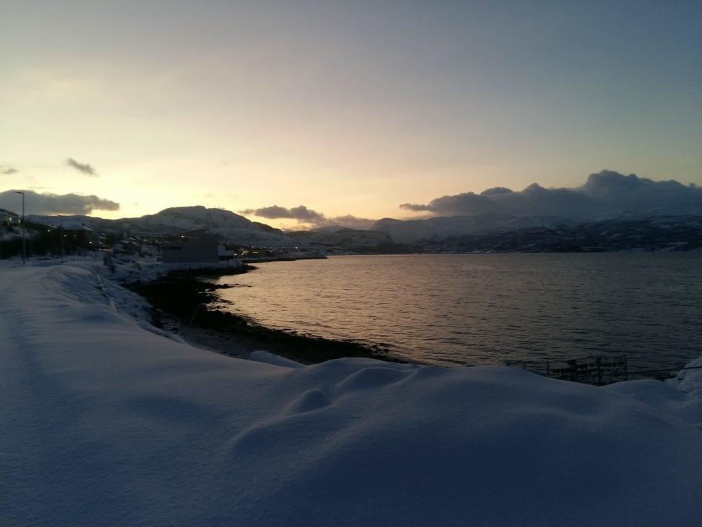 Norge - Alta, tidlig solnedgang - rejser
