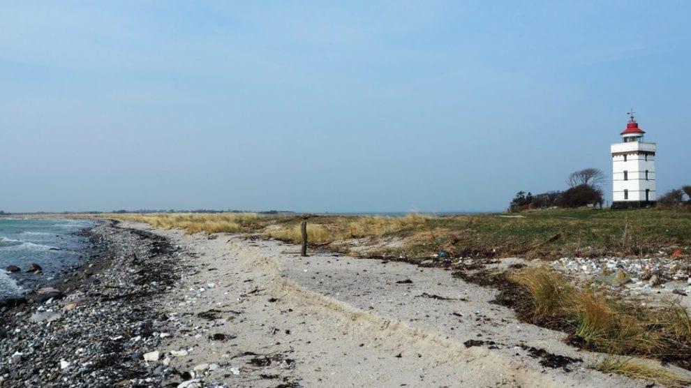 Agersø - danmark strand hav fyrtårn - rejser