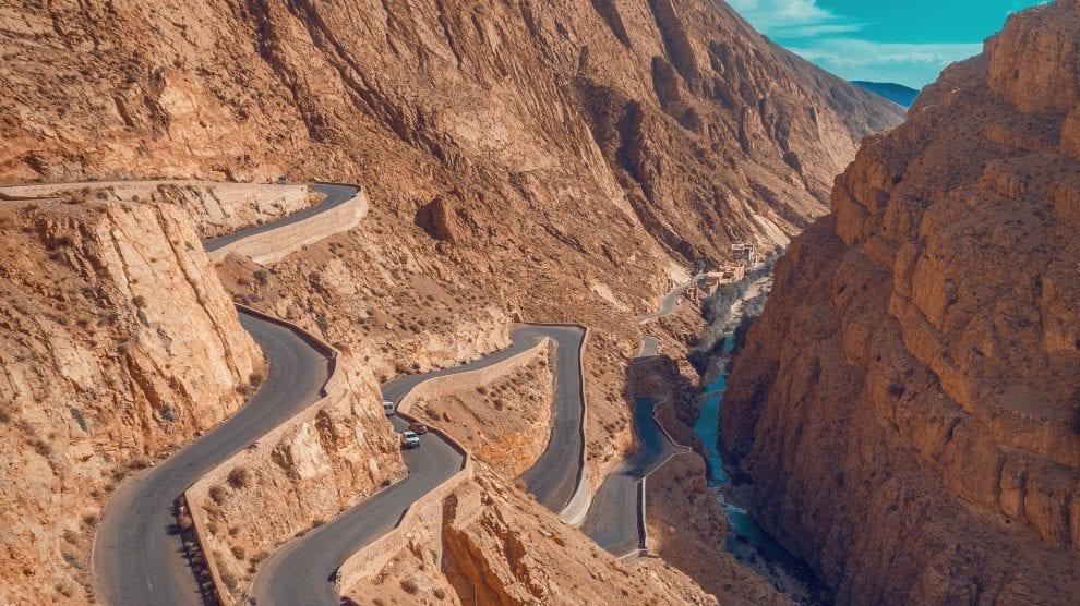 Marokko - bjerg vej - rejser