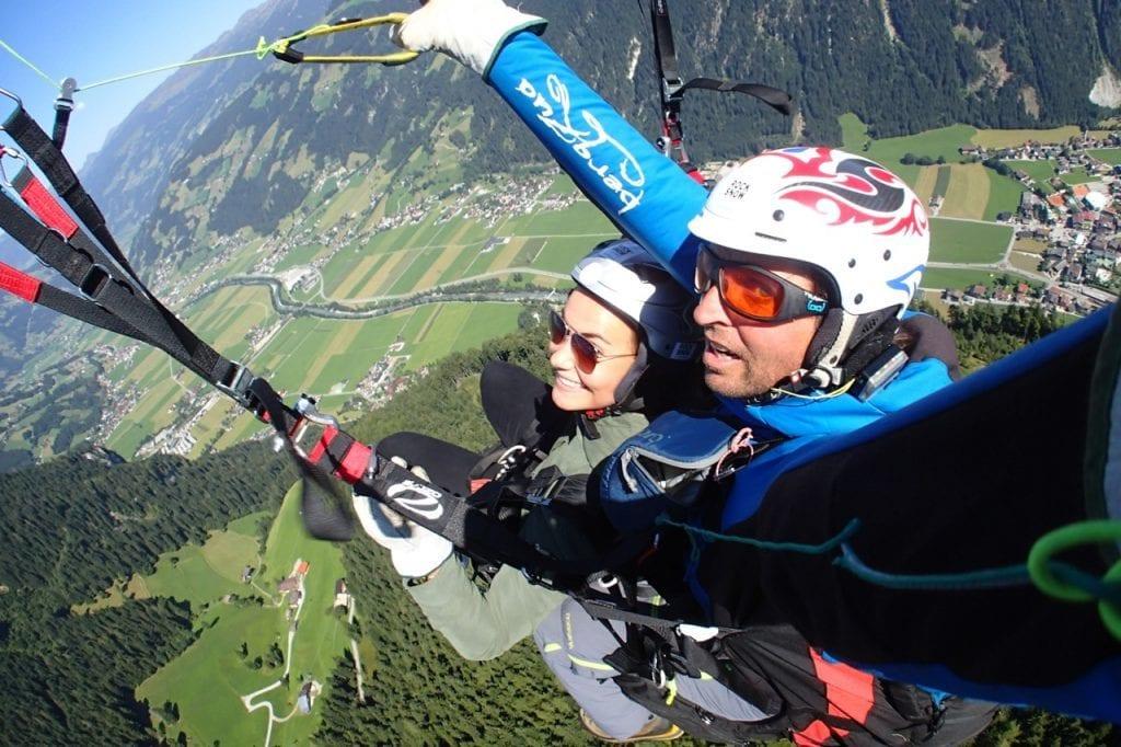 Østrig - paragliding bjerge - rejser