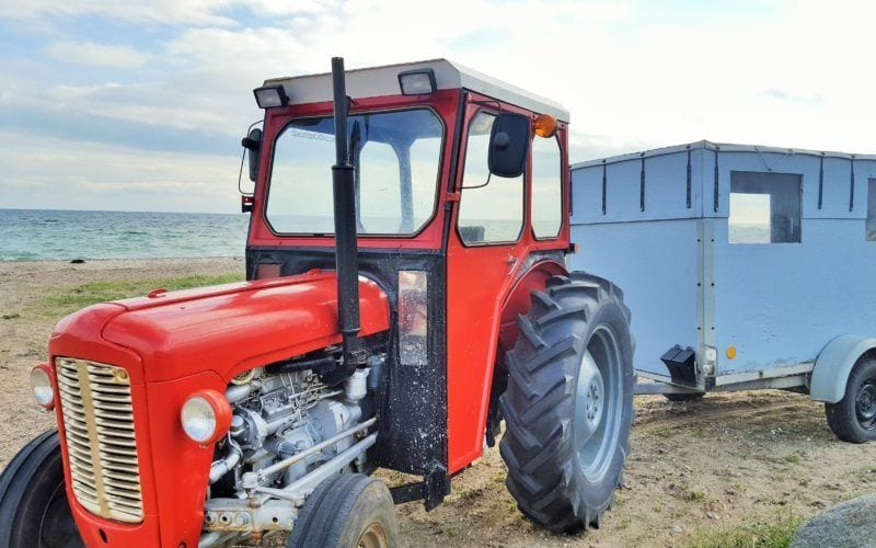 Tunø - danmark ø øer traktor - rejser