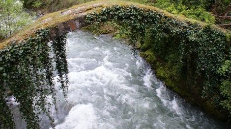 Georgien - flod bro natur - rejser