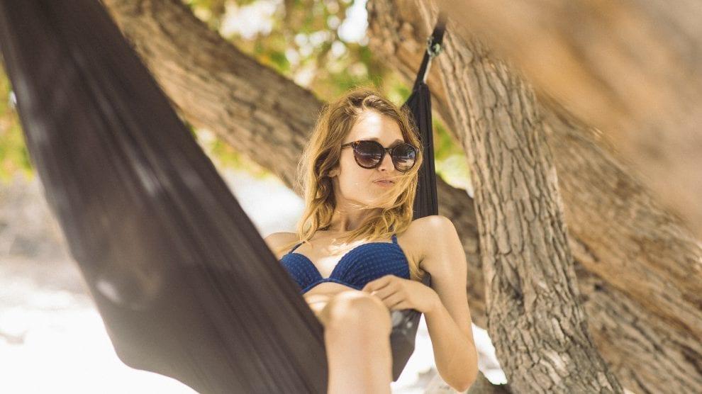 Afslapning - strand hængekøje - rejser