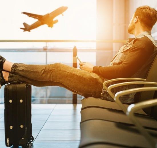 Lufthavn - vente sove mand - rejser