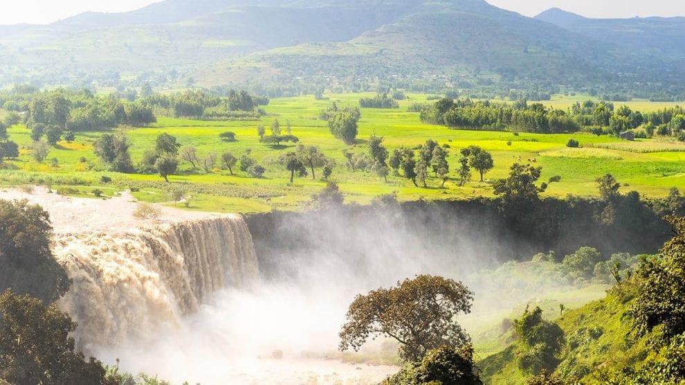 Etiopien vandfald den blå nil rejser