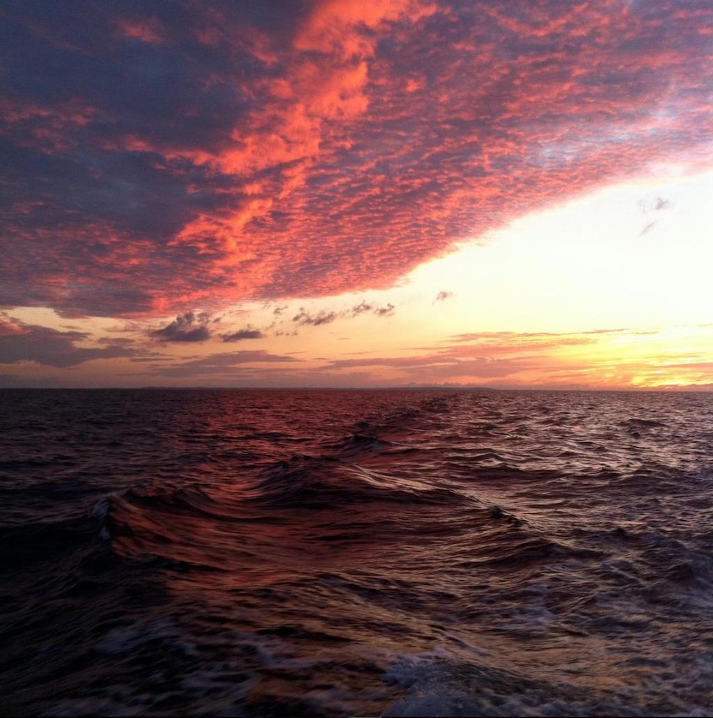 Danmark - solnedgang hav læsø - rejser