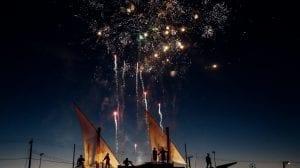 Skib fyrværkeri - rejser