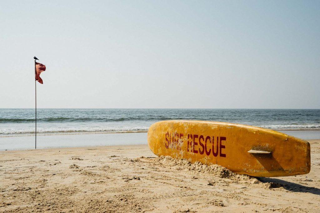 Indien - Goa, strand, surfbræt - rejser