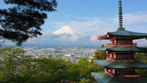 Japan - Mt Fuji - bjerg - pagode - rejser