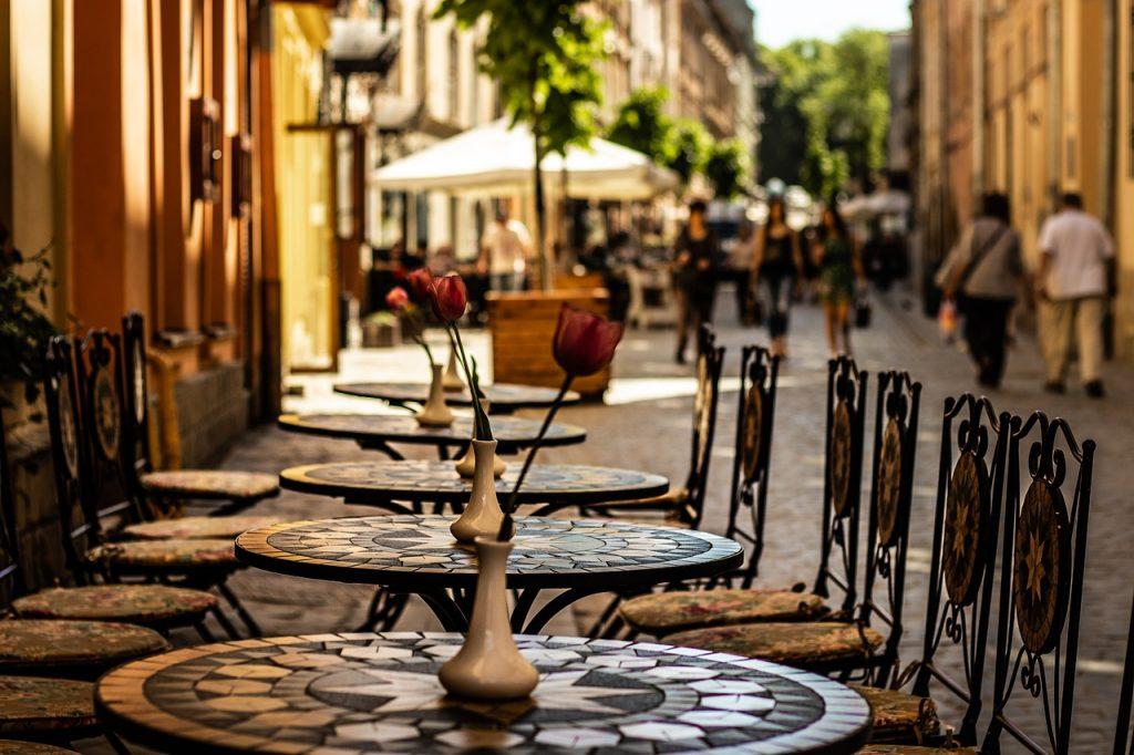 Ukraine - Lviv, café - rejser