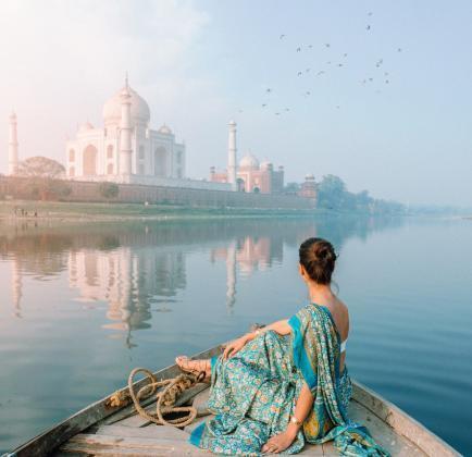 Taj Mahal-indien-kvinde