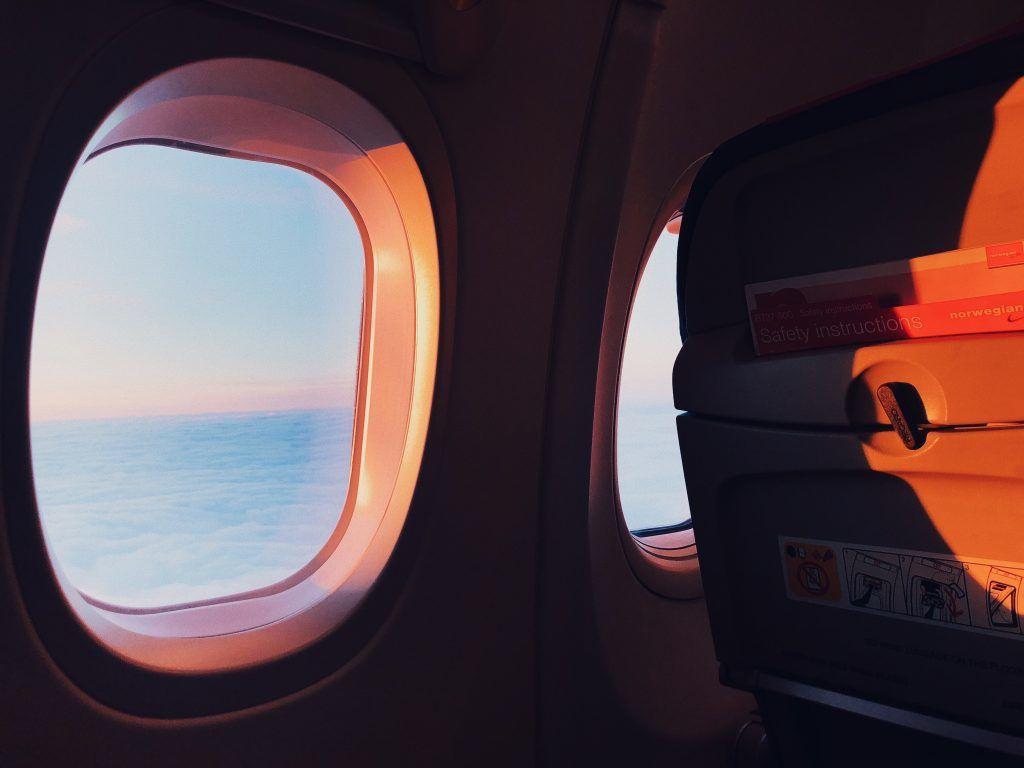 Fly - vindue - rejse