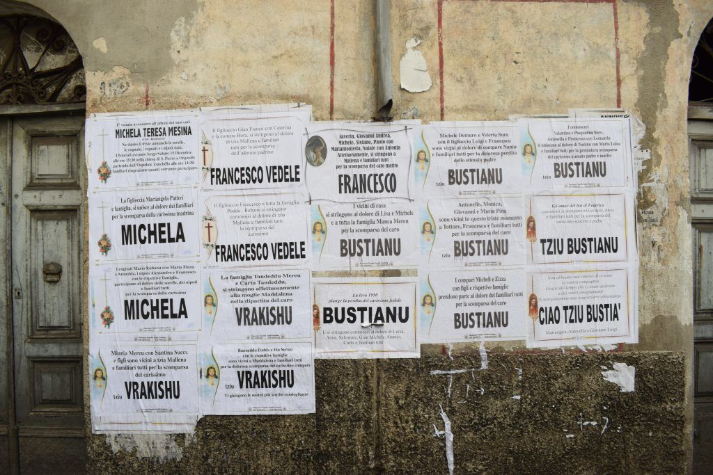 Italien - Sardinien, dødsannoncer - rejser