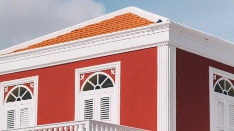 Aruba - rødt hus - rejser