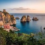 sicilien, hav, udsigt